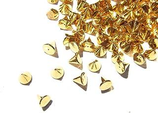 【jewel】ゴールド メタルパーツ リベット (トゲトゲ) Lサイズ 10個入り 3mm×3mm 手芸 材料 レジン ネイルアート パーツ 素材