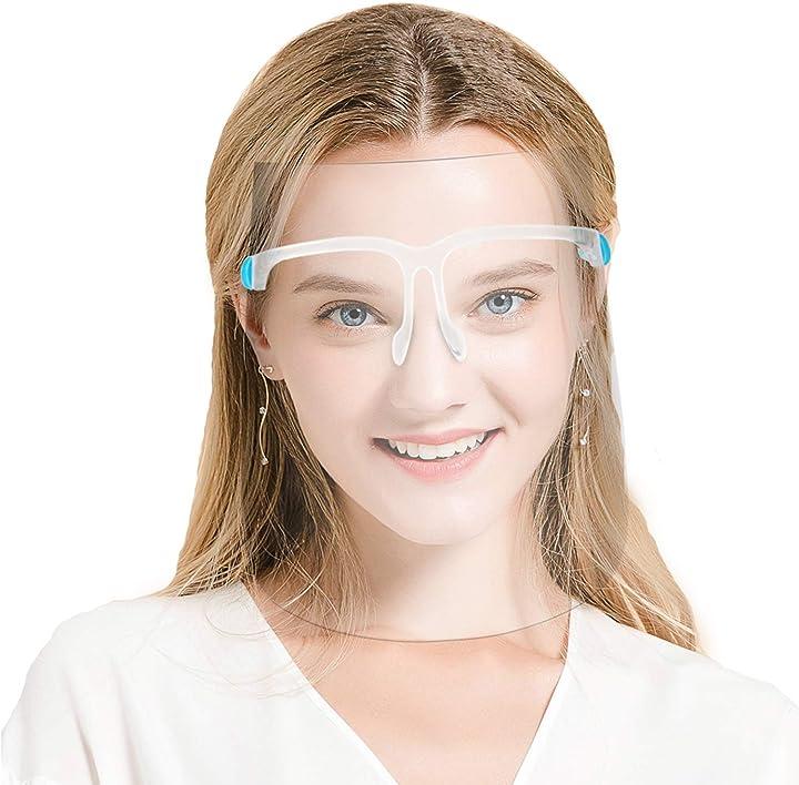 Visiera integrale compatibile con occhiali anti splash e pellicola trasparente uomo/donna 10 pz visiere 5 pz DS-002
