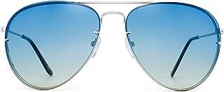 3461ef74a4 JM Clásico Aviador Gafas de Sol Gradiente Tintado Ocean Lente Sombras de  Metal Hombre Mujer