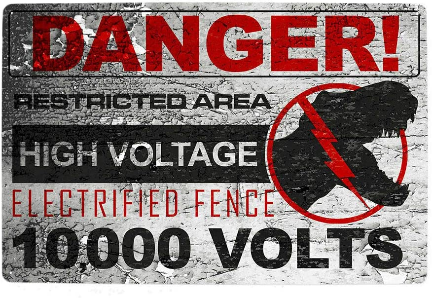 Jurassic Park SEAL limited product Movie Poster High Voltage Warning World Sign Ranking integrated 1st place Metal