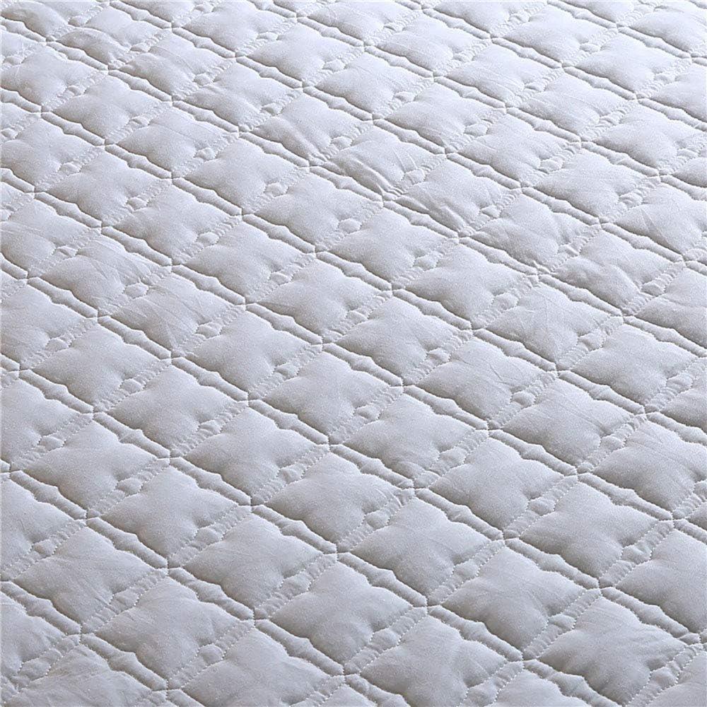 Protège-Matelas Blanc, Protecteurs De Matelas Imperméables King Size, Fibre Antibactérienne White