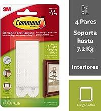 3M Command Strisce Appendiquadri Adesive Per Cornici E Quadri, Misura L, Istruzioni Solo in Lingua Inglese, Bianco