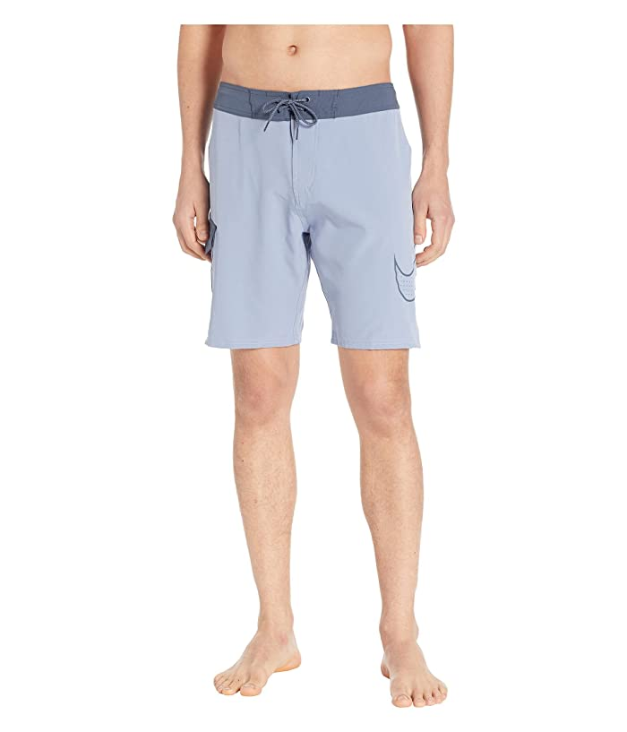 Nike 9 Perforated Swoosh Drift Boardshorts (Indigo Fog) Men