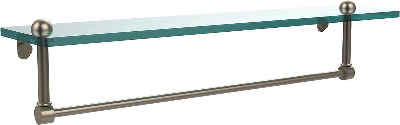 Allied Brass RC-1 22TB-PEW 22-Inch Glass Shelf with Towel Bar