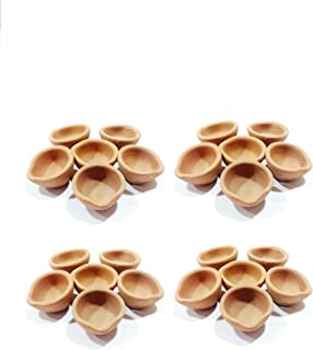 Storite 24 Pack of Traditional/Indian Hand Crafted with Earthen Clay Oil Lamps/Diyas/Deepak for Gifts/Decorations/Festivals/Temples