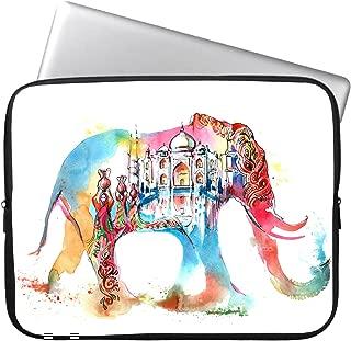 HESTECH 13 Inch Cute Elephant Neoprene Laptop Soft Sleeve Case Bag Cover for MacBook/Dell/HP/Lenovo/Acer/Samsung