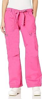 Koi Women's Lindsey Ultra Comfortable Cargo Style Scrub Pants (Tall Sizes) - pink -