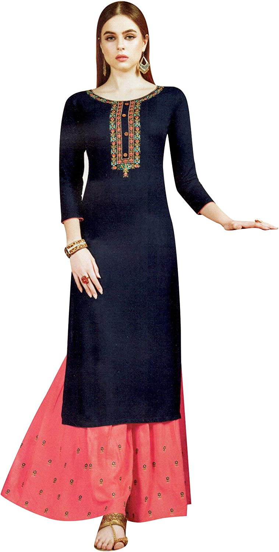 Details about  /Women Indian kurta dress dupatta cotton palazzo Top Tunic  blouse Combo Ethnic