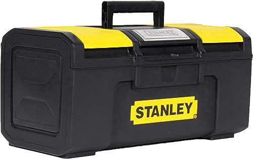 Stanley 1-79-216 Boîte À Outils 40 cm Ouverture 1 main - Structure Robuste - Plateau Porte-Outils mobile - Large Poig...
