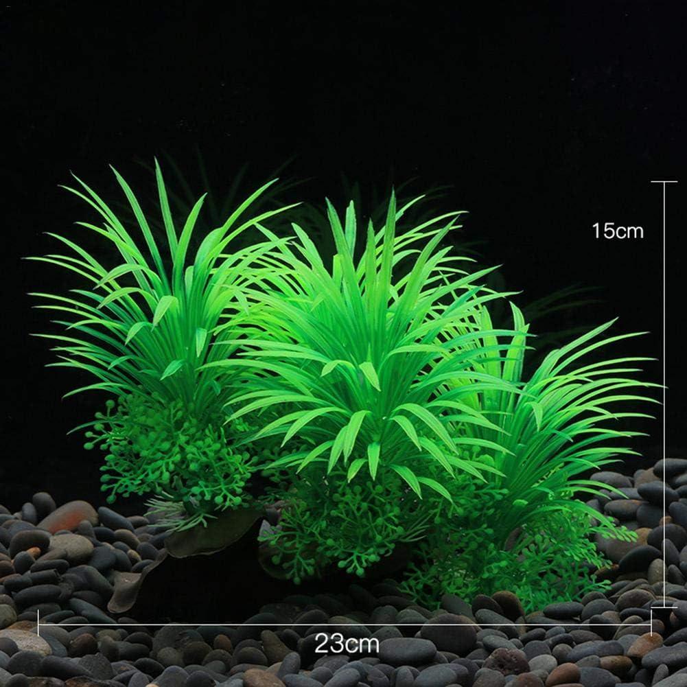Aquarium Decorations Fish Tank Safe For All Fish /& Pets rebirthesame Artificial Green Water Plants Made Of Silk Fabrics Plastic
