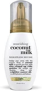 OGX Weightless Mousse, Nourishing Coconut Milk, 8oz