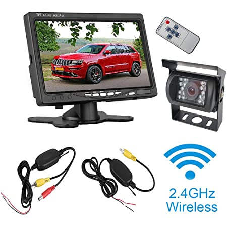 Etime Kabellos Rückfahrsystem 7 Zoll Lcd 1080p Monitor Elektronik