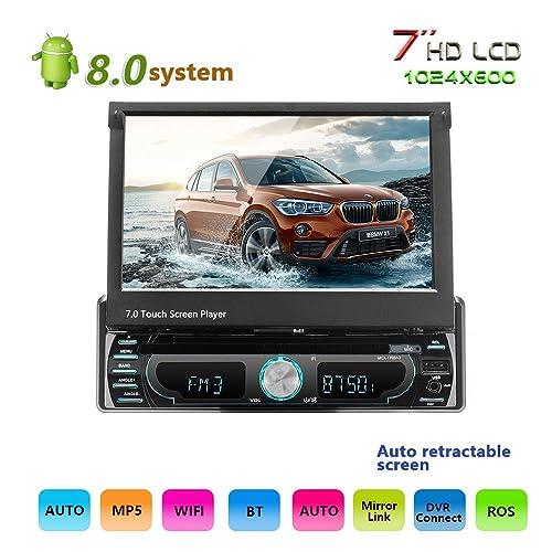 Podofo Android 8.0 stéréo de voiture 17,8 cm en écran tactile Intégré de navigation GPS lecteur de DVD Autoradio FM/AM /Aux/FM/USB/MP3/MP4
