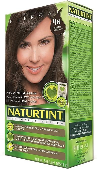 Naturtint - Pelo permanente 4N castaño natural - 5,28 fl oz ...