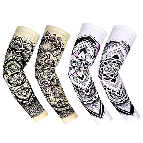 7d37268be62b09 RoryTory Cooling Arm Elbow Compression Sleeve Sun Guard Tattoo Sleeves  Cover Up - for Outdoor Cycling