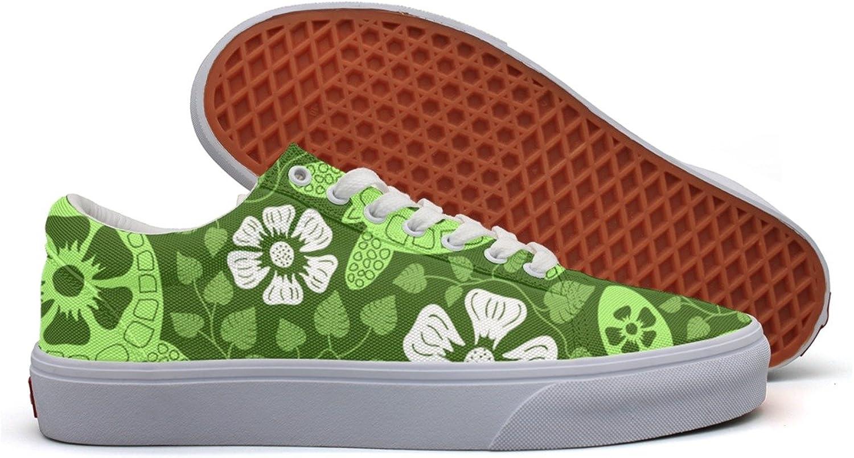 Green Turtles Hawaiian Flowers Women's Casual shoes Sneakers Boat Lo-Top Cute Original