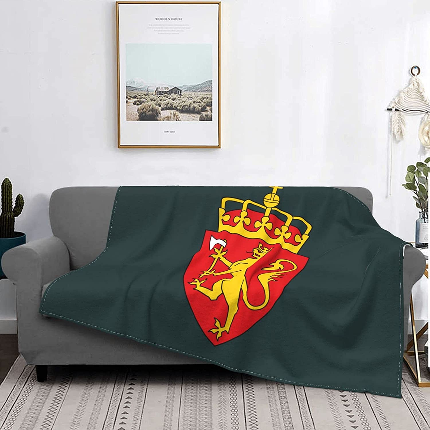 Washington Mall Coat of Arms Norway Special sale item Blanket S Flannel Soft Throw Warm