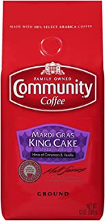 Community Mardi Gras King Cake Premium Ground Coffee, 12 Ounce Bag, Pack of 3