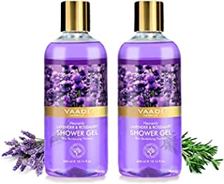 Vaadi Herbals Organic Body Wash Shower Gel Lavender & Rosemary - Skin Revitalizing Therapy -shower Gel That Cleanses, Refr...