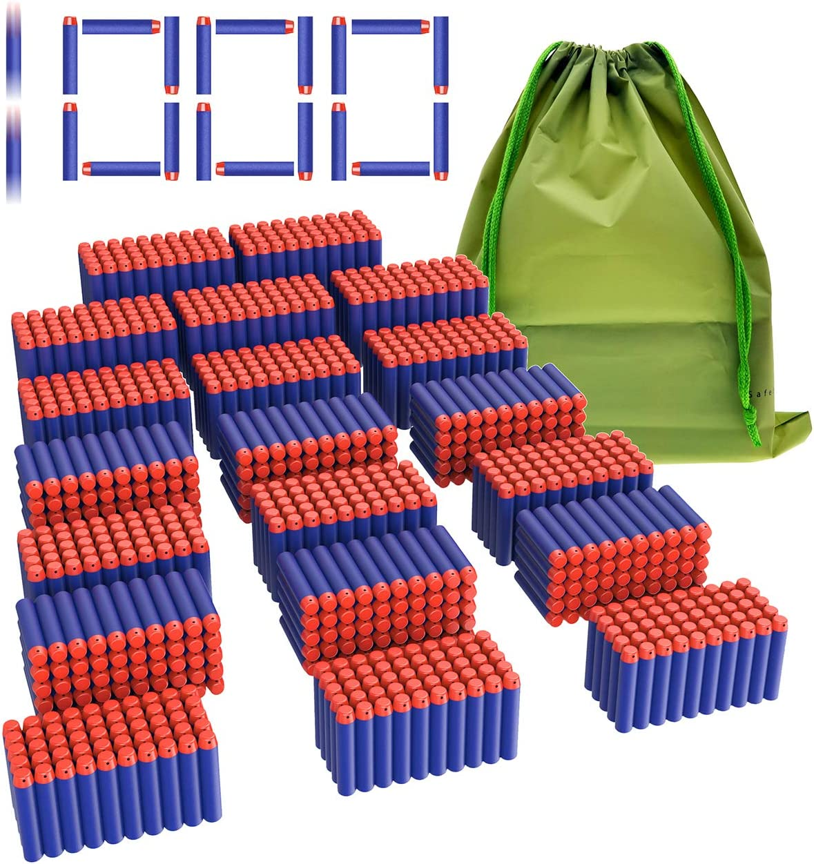 Coodoo Compatible Darts 1000 PCS Refill NEW Nerf Bullets Popular overseas N- Pack for