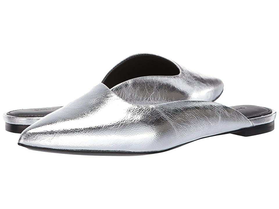 Sigerson Morrison Sheryl Flat Mule (Silver Specchio) Women