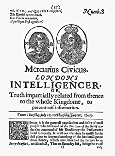 Posterazzi Poster Print Collection News-Letter Ntitle Page of 'Mercurius Civicus ' an English Newsletter of 1643, (18 x 24), Multicolored