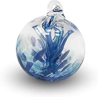 Luke Adams Glass Mini Wish Ball Blue - Serenity