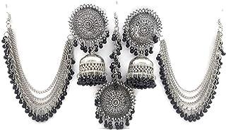 Total Fashion Oxidised Tikka Earrings For Girls And Women
