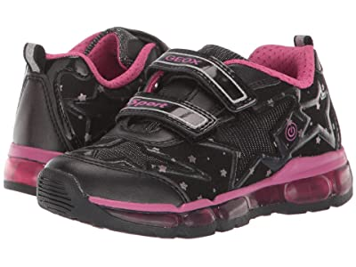 Geox Kids Jr Android 24 (Little Kid) (Black/Pink) Girls Shoes