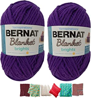 Best bernat blanket yarn patterns easy Reviews