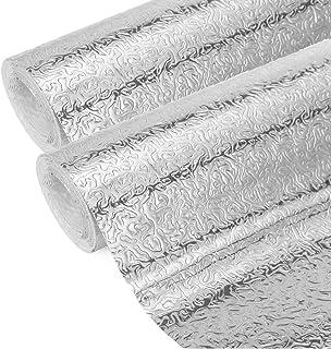 comprar comparacion 2 Piezas Aluminio Papel Pintado Cocina, Papel Aluminio Autoadhesivo Papel Cocina Impermeable a Prueba Aceite Para Muebles,...