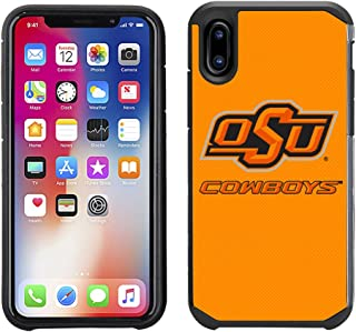 Prime Brands Group Textured Team Color Cell Phone Case for Apple iPhone X - NCAA Licensed Oklahoma State University Cowboys