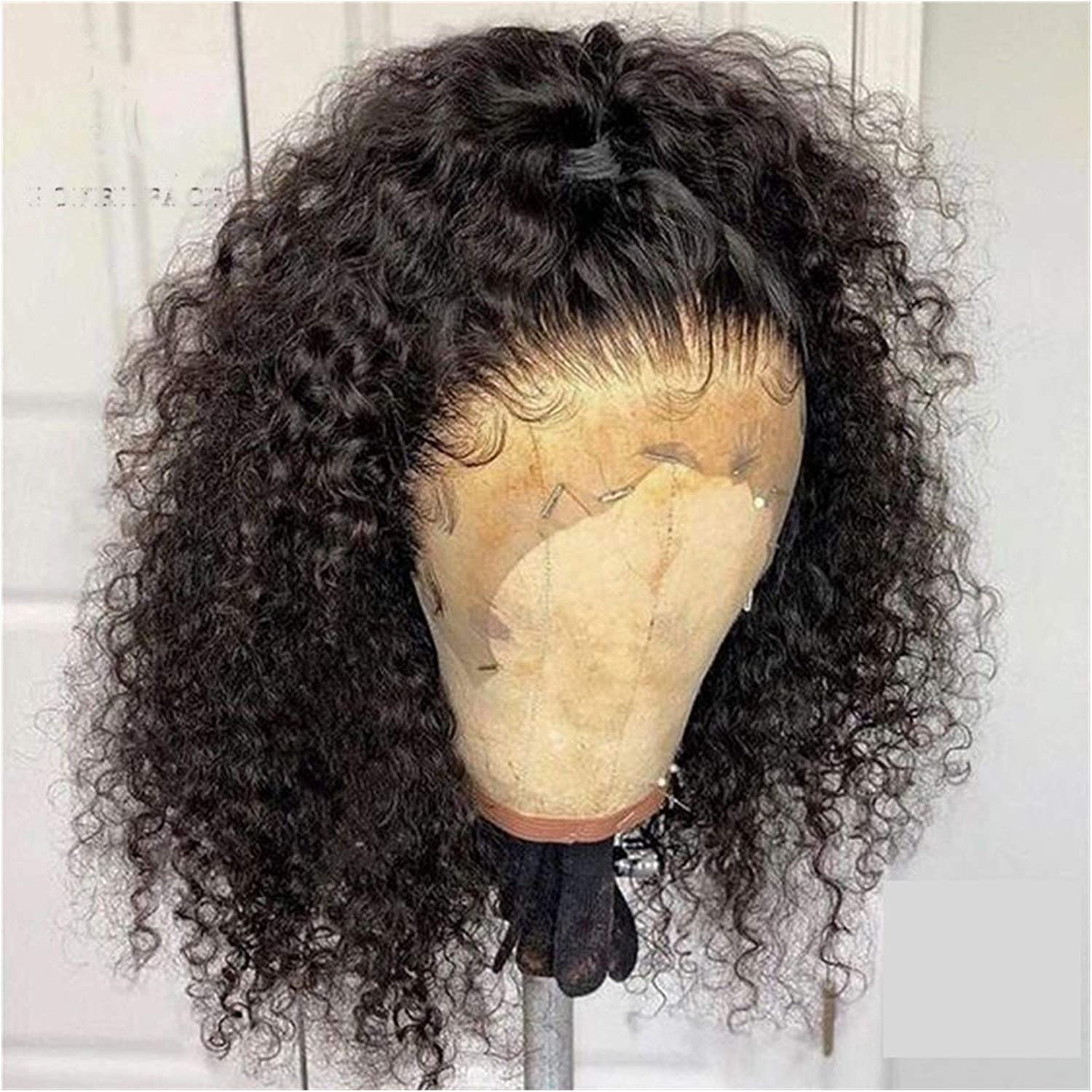 WLDZSW Dark Curly Oakland Mall Hair Lace Front Color 22in Size Ranking TOP17 180% Wig :