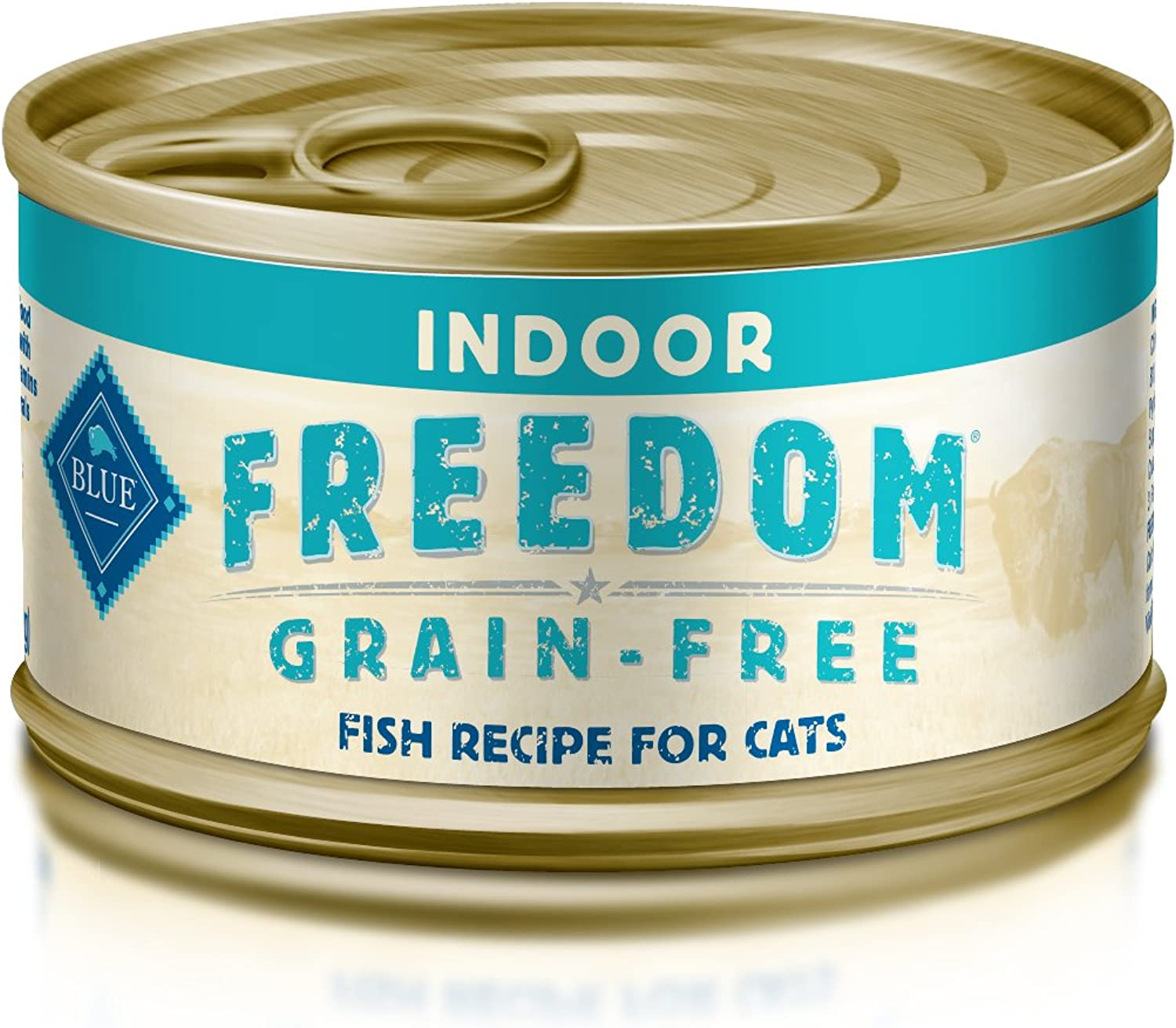 blueE Freedom Adult Pate Indoor Fish Wet Cat Food 3oz (Pack of 24)