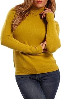 Young-Fashion Damen Basic Pullover mit Rollkragen Longpullover f/ür Herbst Winter und Freizeit