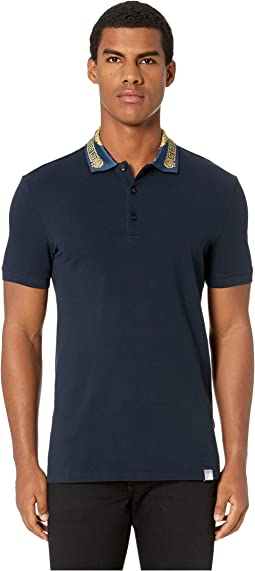 Polo with Collar Detail