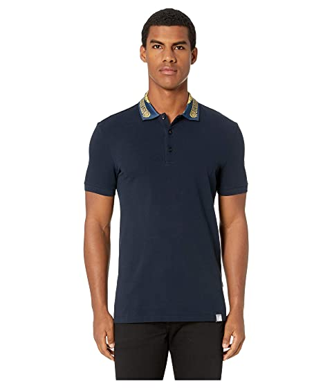 Versace Collection Polo with Collar Detail