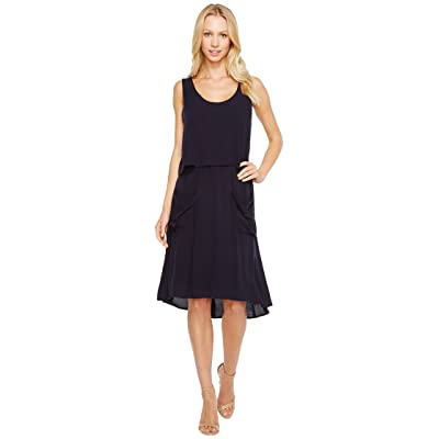 B Collection by Bobeau Casual Utility Dress (Navy) Women