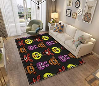 Five Nights at Freddy's 1 Pixel Art The Classic 4 Area Rugs Non-Slip Floor Mat Doormats Home Runner Rug Carpet for Bedroom Indoor Outdoor Kids Play Mat Nursery Throw Rugs Yoga Mat