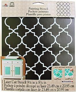 "FolkArt Moroccan Tile Handmade Charlotte Laser Stencils, 4377, 10"" x 8-1/2"