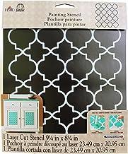 "FolkArt Handmade Charlotte Laser Stencils, 4377 Moroccan Tile, 10"" x 8-1/2"