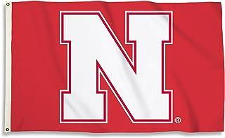 BSI PRODUCTS, INC. - Nebraska Cornhuskers 3'x5' Flag with Heavy-Duty Brass Grommets - UNL Football, Basketball & Baseball ...