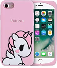 Joyleop Angel Unicorn Case for iPhone SE/5S/5C/5 Cover,Cute Kids Girls Teens Cartoon Shell,3D Pink Soft Silicone Animal Kawaii Character Unique Rubber Shockproof Chic Fresh Protector for iPhone 5/5S