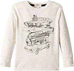 Soft Multi Car Stacked Graphic Long Sleeve Tee (Infant/Toddler/Little Kids/Big Kids)
