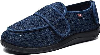 Koyike Pantoufles Diabétiques,Chaussures Thérapeutiques avec Fermeture Velcro Réglable,Chaussure de Santé Chaude en Laine,...
