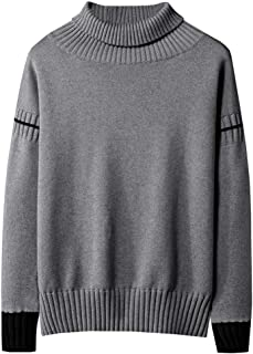 Men's Autumn Winter Sweaters Casual Long Sleeve Cotton Solid Color Pullover Tops Beautyfine