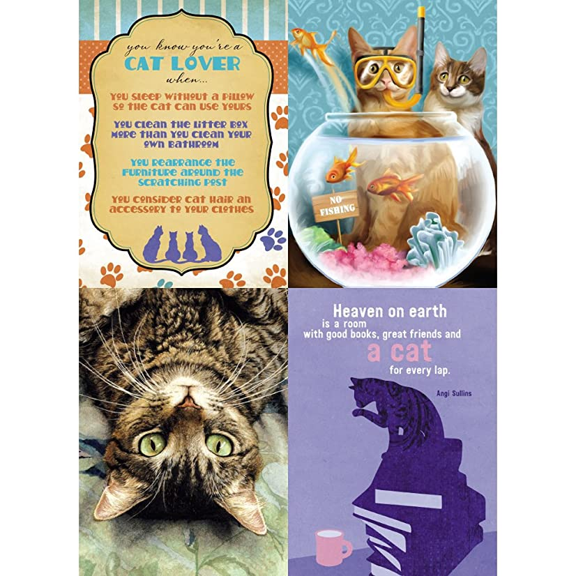Tree-Free Greetings Cat Lovers Birthday Wishes Card Assortment, 5 x 7 Inches, 8 Cards and Envelopes per Set (GA31607)