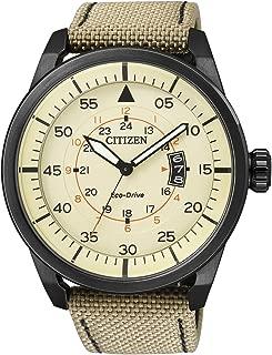 AW1365-19P - Reloj de Cuarzo para Hombre, con Correa de Cuero, Color Beige