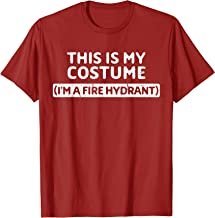 I'm A Fire Hydrant Funny Halloween Costume Gift Design T-Shirt