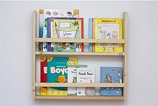 Miwaimao Bibliothèque en Bois pour Chambre d'enfants, étagère Murale étagère Montessori éducative 2 Couches (Color : White)